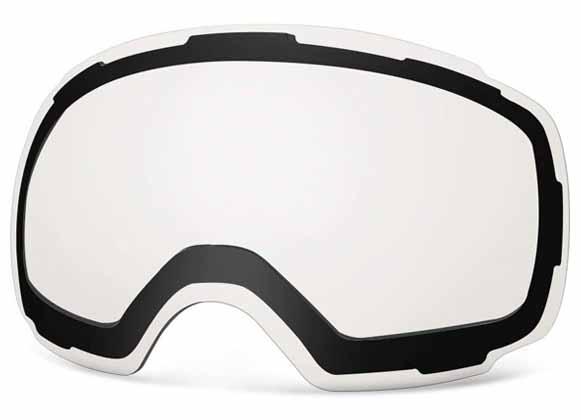 Clear ski goggle lens