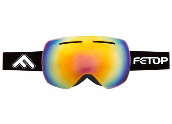 Fetop Ski goggles with a multi-colored lens
