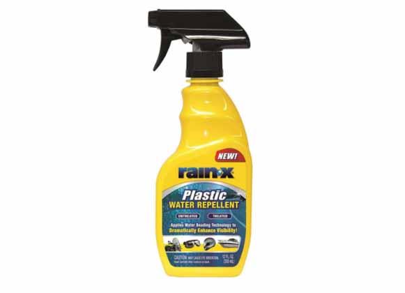 Plastic water repellent