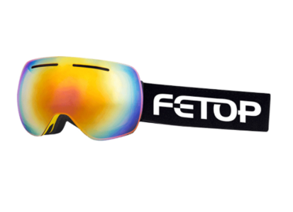 Ski goggles with a spherical lens