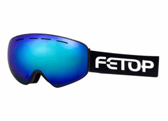 Ski goggles with detachable strap