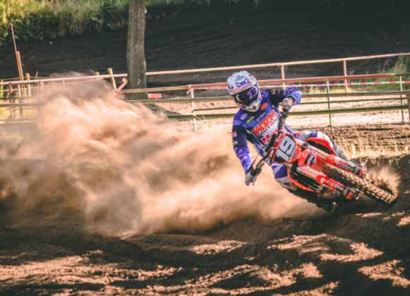 A Dirt Bike in Action